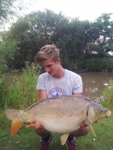 ........and here it is a cracking 28lb mirror!